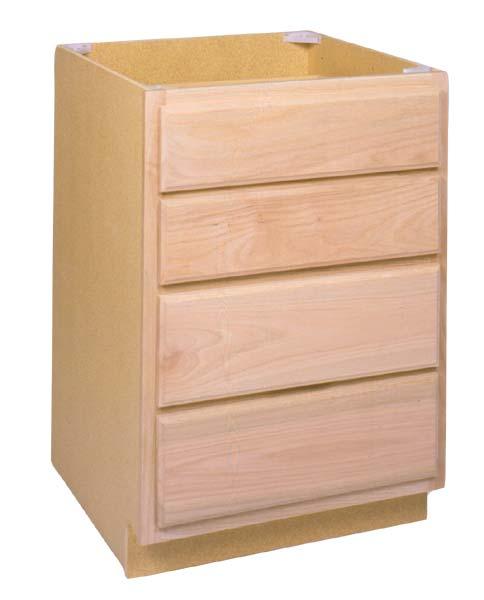 Unfinished Kitchen Base Cabinets: Zee Mfg DB24OA 24 In Unfinished Oak Drawer Base Cabinet At