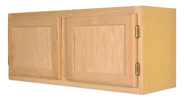 Zee Mfg W3618OA 36 in X 18 in Unfinished Oak Wall Cabinet at ...