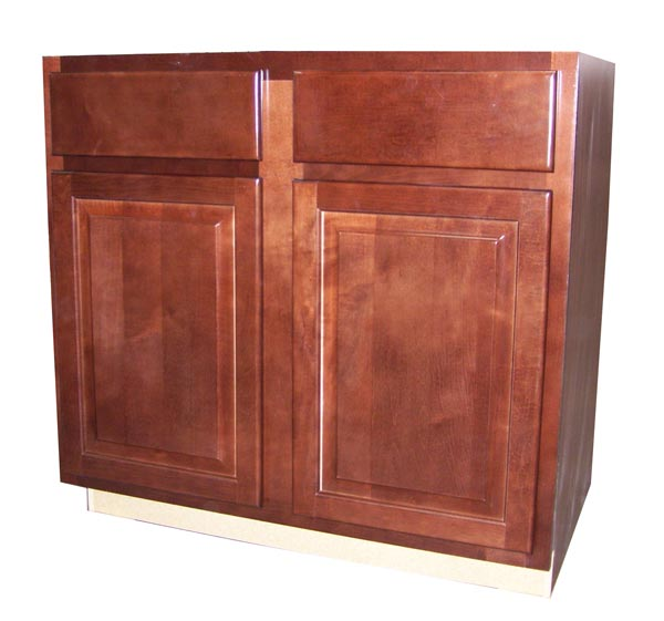 Zee Mfg Sb36mgcbx Maple Grove Base Cabinet Sink Cherry 36 In At Sutherlands