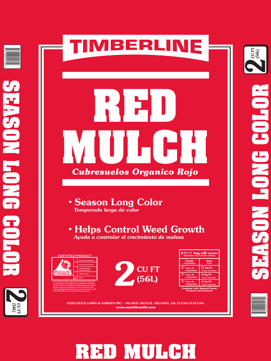 Sutherlands 40 Bag Red Colored Mulch 2 Cu Ft Bag At