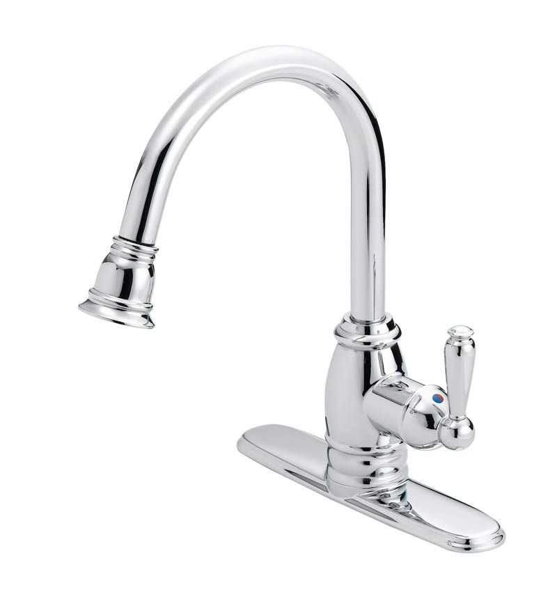 flo control faucets fp4a5008cp pull down designer kitchen faucet at