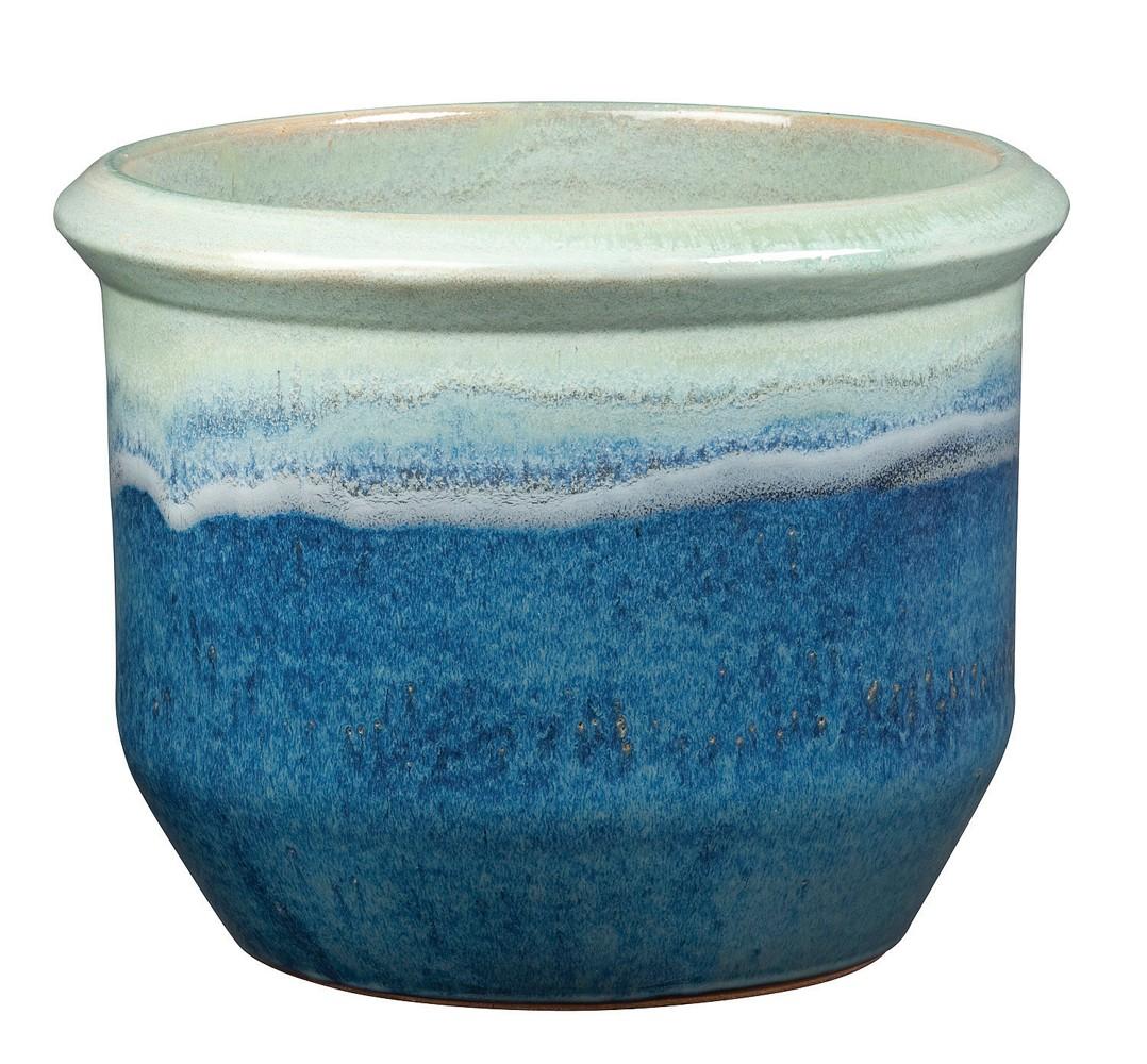 New England Pottery 100019850 7 1 2 Inch Apple Dynasty Jackson Pot